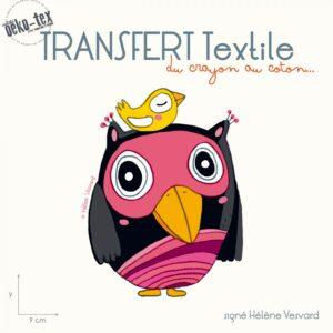 transfert-textile-la-chouette-et-l-oiseau-signe-helene-vesvard
