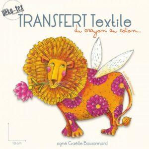 transfert-textile-le-lion-signe-gaelle-boissonnard